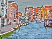 Gondola Art - Venice in shimmering light by Heiko Koehrer-Wagner