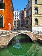 Venice Italy - Canal Bridge Print by Gregory Dyer