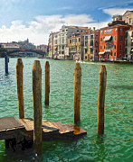 Venice Italy - Grand Canal View Print by Gregory Dyer