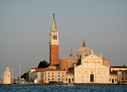 Venice Italy - San Giorgio Maggiore Island At Sunset Print by Gregory Dyer