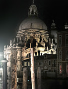 Venice Italy - Santa Maria Della  Salute At Night Print by Gregory Dyer