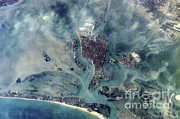 2001 Framed Prints - Venice, Italy Framed Print by NASA / Science Source