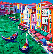 Town Drawings Originals - Venice by Ivailo Nikolov