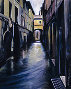Street Painting Originals - Venice by James Christopher Hill