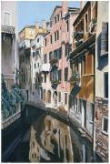 Reflections In Water Painting Posters - Venice  Poster by Jiji Lee