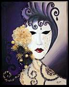 Venice Mixed Media Originals - Venice Mask by Mireille Yaacoub