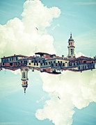 Digital Composite Framed Prints - Venice Mirrored Framed Print by Luke Chan