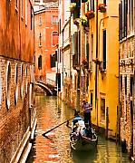 Gondola Tapestries Textiles - Venice Passage by Mick Burkey