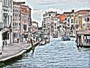 Waterway Digital Art - Venice picture by Heiko Koehrer-Wagner