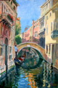 Gondola Paintings - Venice Ponte Widmann by Ylli Haruni
