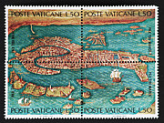 Venedig Photos - Venice Postage Stamp Print by Andy Prendy