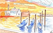 Postcard Painting Originals - Venice Postcard by Warren Thompson