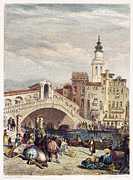 1833 Framed Prints - Venice: Rialto, 1833 Framed Print by Granger