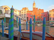 Venice Photo Prints - Venice Rialto Bridge Print by Heiko Koehrer-Wagner