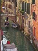 Venice Waterway Posters - Venice ride with gondola Poster by Heiko Koehrer-Wagner