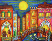 Lisa Lorenz Painting Metal Prints - Venice Soiree Metal Print by Lisa  Lorenz