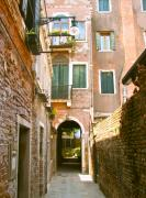 Italian Art Photo Prints - Venice- Venezia-Calle veneziana Print by ITALIAN ART- Angelica