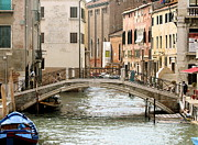 Italian Art Metal Prints - Venice Venezia Venetian bridge Metal Print by ITALIAN ART- Angelica