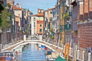 Historic Villages Prints - Venice waterstreet Print by Heiko Koehrer-Wagner