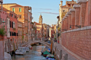 Historic Villages Prints - Venice waterway Print by Heiko Koehrer-Wagner