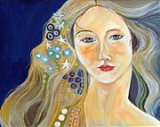 Klimt Painting Originals - Venus a la Klimt by Stephanie Corder