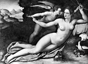Eros Photos - Venus And Cupid by Granger
