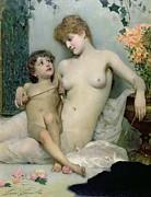 Venus And Cupid Print by Solomon Joseph Solomon