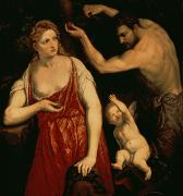 Goddess Mythology Paintings - Venus and Mars by Paris Bordone