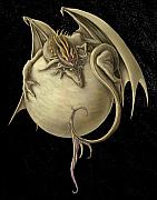 Dragon Metal Prints - Venus Dragon Metal Print by Rob Carlos