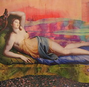 Fertility Mixed Media - Venus In Love by Kanchan Mahon