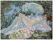 Fine American Art Posters - Venus in the Sunlight Poster by Frederick Frieseke
