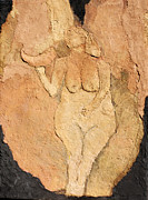Relief Print Painting Prints - Venus of Laussel Print by Lisa Baack