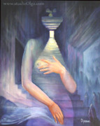 Olga Paintings - Venus of the Basement by Olga Perry