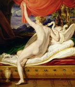 Swan Goddess Paintings - Venus Rising from her Couch by James Ward