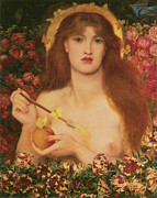 Dante Paintings - Venus Verticordia by Dante Gabriel Rossetti