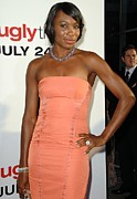 Coral Dress Art - Venus Williams At Arrivals For The Ugly by Everett