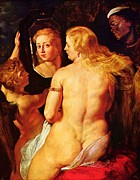 Rubens Metal Prints - Venus With Mirror At Bath Metal Print by Pg Reproductions