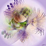Green Abstract Digital Art - Venusian Microcosm by Casey Kotas
