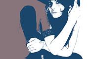 Vera Blue Print by Irina  March