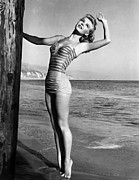Bathing Suit Prints - Vera-ellen, Ca. 1940s Print by Everett
