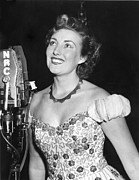 1950s Fashion Prints - Vera Lynn, Appearing On The Radio Print by Everett