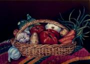 Basket Pastels Prints - Verduras Print by Diana Moya