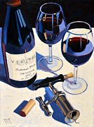 Wine Oil Posters - Veritas Poster by Christopher Mize