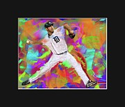 Baseball Originals - Verlander II by Donald Pavlica