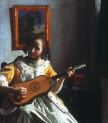 Dutch Girl Prints - Vermeer: Guitar Player Print by Granger