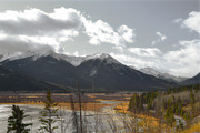 Canadian Winter Art Prints - Vermillion Lakes Autumn Print by Andrea Hazel Ihlefeld