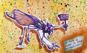 Dragon Fly Mixed Media Posters - Vermin Declares Peace Poster by Iosua Tai Taeoalii