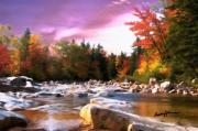 Vermont Landscapes Posters - Vermont Autumn Poster by Anthony Caruso