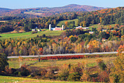 Autumn Foliage Prints - Vermont Countryside View Pownal Print by John Burk