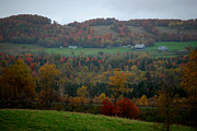 Foliage Photos - Vermont Farm Autumn by Tammy Collins